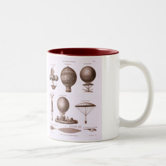 Diseños históricos del globo del aire caliente taza