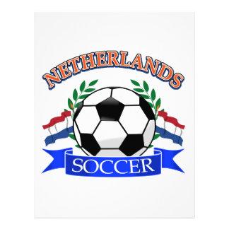 Diseños holandeses del balón de fútbol plantilla de membrete
