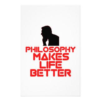 diseños impresionantes de la filosofía papelería personalizada