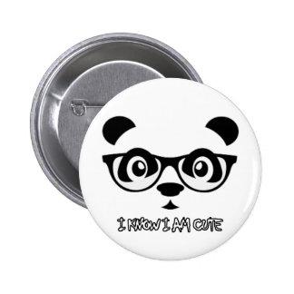 diseños impresionantes de la panda pin redondo 5 cm
