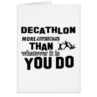 Diseños impresionantes del Decathlon Tarjeta De Felicitación