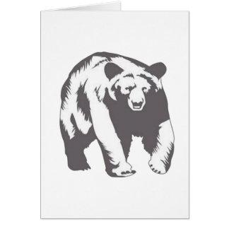 diseños impresionantes del oso tarjeta de felicitación