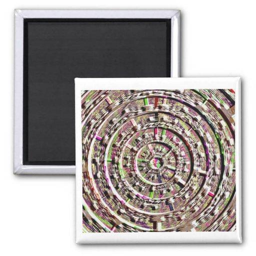 Diseños incorporados de la cura de Chakra Imán De Frigorifico
