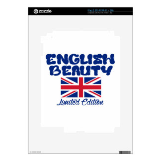 Diseños ingleses de la belleza calcomanía para el iPad 2