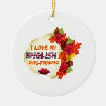 Diseños ingleses de la novia ornamentos de navidad