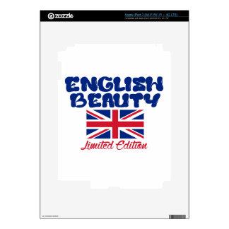 Diseños ingleses de la SEÑORA iPad 3 Skin