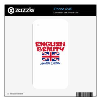 Diseños ingleses de las SEÑORAS Calcomanía Para iPhone 4