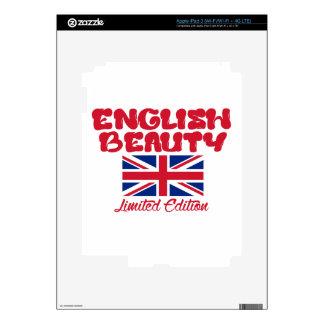 Diseños ingleses de las SEÑORAS iPad 3 Pegatina Skin