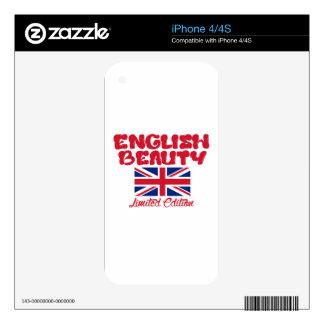 Diseños ingleses de las SEÑORAS iPhone 4S Skin