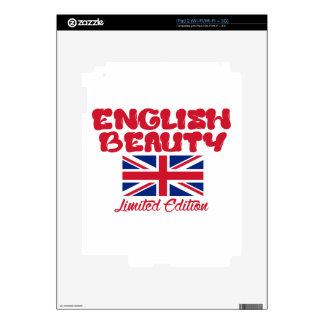 Diseños ingleses de las SEÑORAS Skins Para eliPad 2