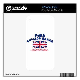 Diseños ingleses del orgullo skin para el iPhone 4S