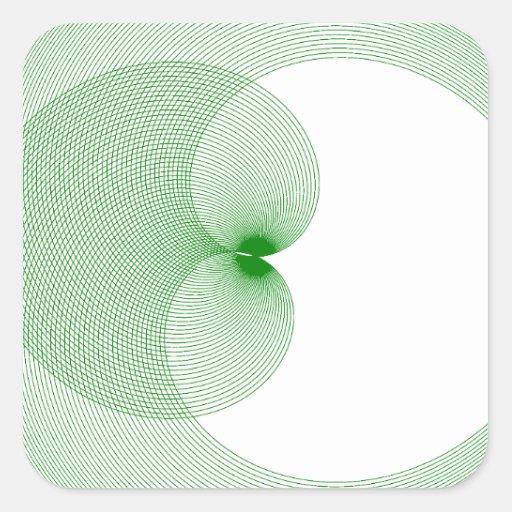 Diseños innovadores pegatina cuadradas personalizada