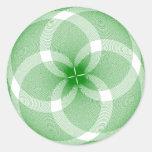 Diseños innovadores pegatina redonda