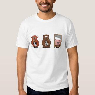Diseños inspirados del mercado de acción camisas