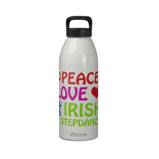 diseños irlandeses de la danza del paso botella de agua reutilizable