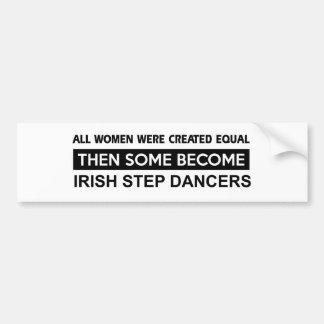 Diseños irlandeses frescos del baile de paso pegatina para auto