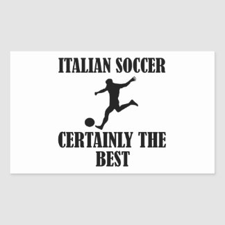 diseños italianos frescos del fútbol pegatina rectangular