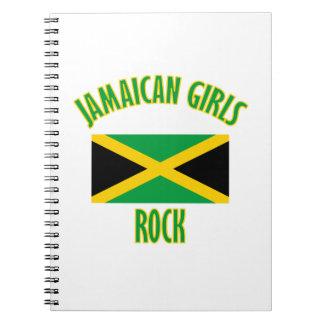 DISEÑOS jamaicanos de los chicas Spiral Notebooks