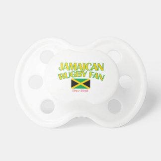 DISEÑOS jamaicanos frescos de la fan del rugbi Chupetes