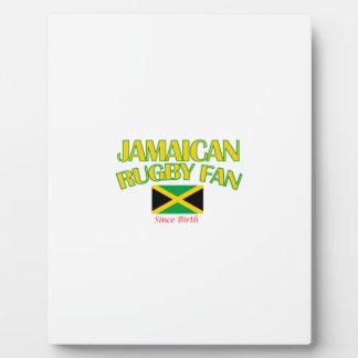 DISEÑOS jamaicanos frescos de la fan del rugbi Placas Con Fotos