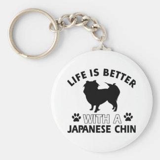 Diseños japoneses de la raza del perro llavero redondo tipo pin