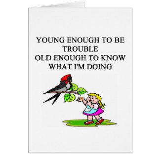 diseños jovenes del hijo y de la hija del palo de  tarjeton