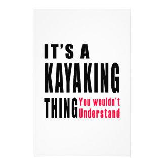 Diseños Kayaking de la cosa Papeleria