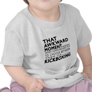 Diseños kickboxing de ese momento torpe camisetas