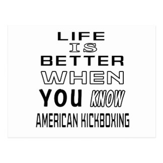 Diseños kickboxing del americano fresco postal