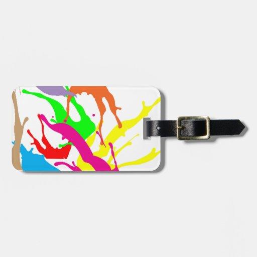 diseños libres del extracto de la pintura etiqueta para maleta