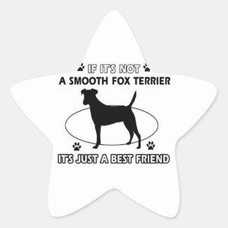Diseños LISOS frescos del FOX TERRIER Pegatina En Forma De Estrella