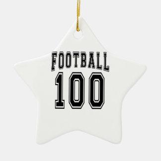 Diseños locos del cumpleaños del fútbol 100 ornamentos de reyes