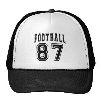 Diseños locos del cumpleaños del fútbol 87 gorro de camionero
