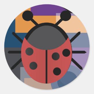 Diseños locos pegatina redonda