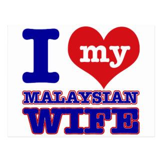 Diseños malasios postales