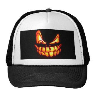 Diseños malvados de la linterna del o de Halloween Gorro De Camionero