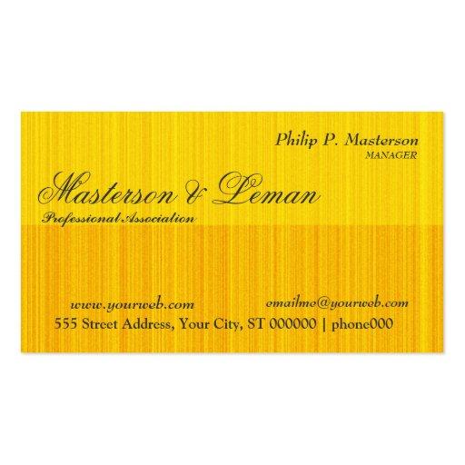 Diseños masculinos del monograma del oro de tarjetas de visita