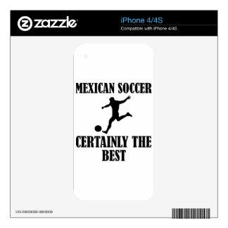 diseños mexicanos frescos del fútbol calcomanías para iPhone 4