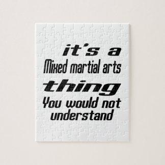 Diseños mezclados de la cosa de los artes rompecabeza