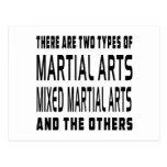 Diseños mezclados de los artes marciales postal