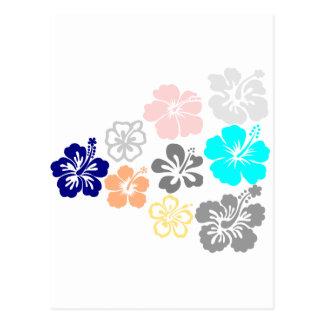 Diseños mezclados del hibisco postales