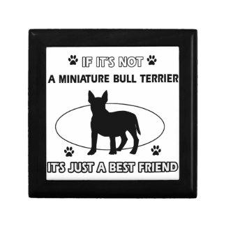 Diseños MINIATURA del perro de BULL TERRIER Cajas De Regalo
