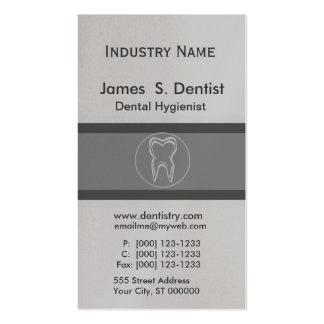 Diseños modernistas del diente del dentista tarjetas de visita