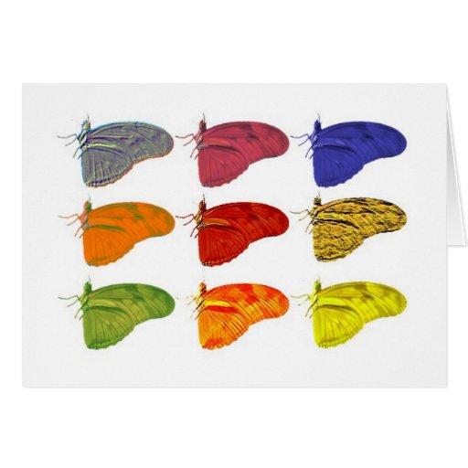 Diseños múltiples de Butterlfy - Notecard Tarjetón