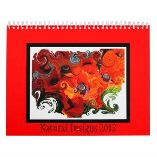 Diseños naturales calendarios de pared