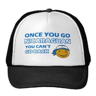 Diseños nicaragüenses del smiley gorras