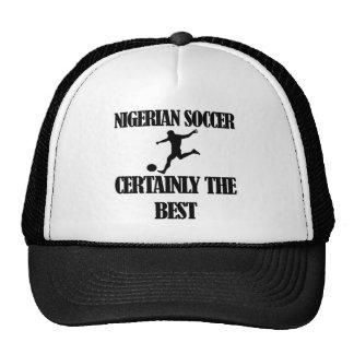 Diseños nigerianos del fútbol gorra
