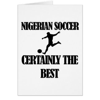 diseños nigerianos frescos del fútbol tarjeta de felicitación