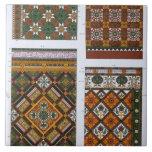 Diseños para la mayólica y las tejas esmaltadas pa
