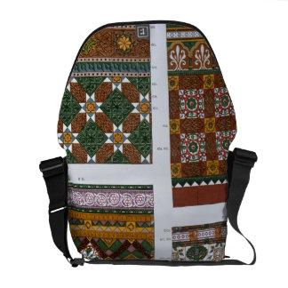Diseños para la mayólica y las tejas esmaltadas pa bolsa messenger